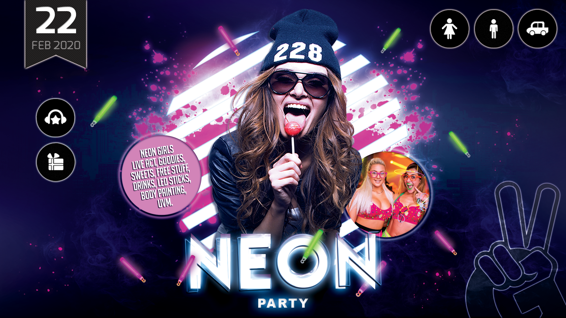 NEON PARTY | Carneval & Neon Painting Edition